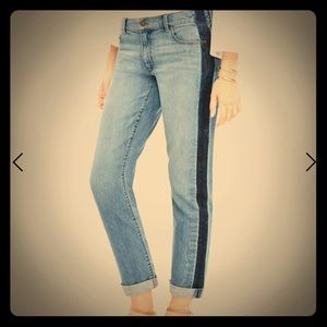 ANN TAYLOR SIDE STRIPE GIRL FRIEND JEANS
